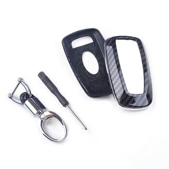 Beler Smart Sleutelhanger Chain Cover Case Carbon Fiber Stijl Fit Voor Ford Fusion F150 F250 Mustang Explorer Edge Ranger Ecosport 2019