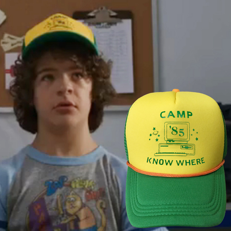 2019 New Strange Story Dustin With The Net Cap Stranger Things Caps Fashion Hip Hop Outdoor Casual Hat  Adjustable Sun Hats
