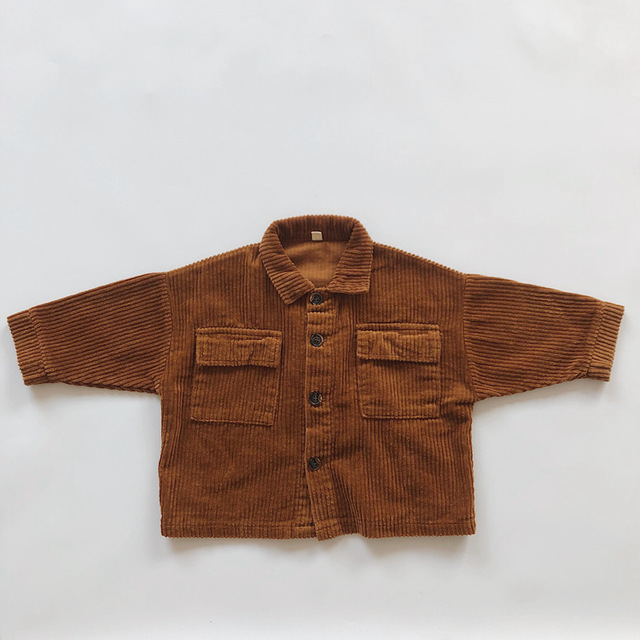 Kids Tops Coat Long Sleeve 2020 New Autumn Simplicty Corduroy Girls Coat Baby Jacket Boys Jackets Toddler Girl Winter Clothes 4