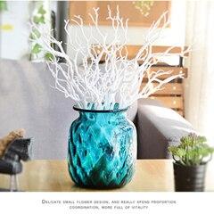 3 шт. Manzanita сухое искусственное поддельное лиственное растение ветка дерева Свадьба домашняя церковная офисная мебель зеленый белый 36 см Z - Цвет: B