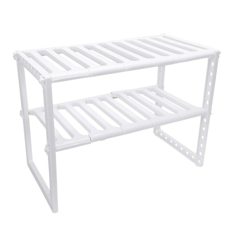 Kitchen Rack Organiser Adjustable Removeable Under Sink Storage Tidy Shelf Unit|Storage Holders & Racks| |  - title=