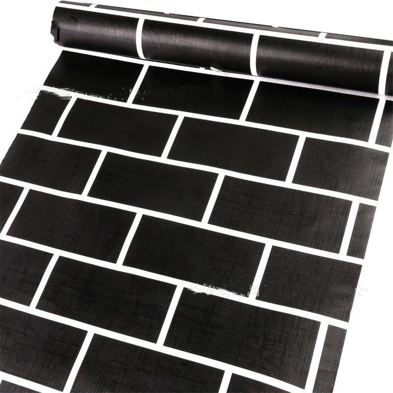 2019 INS style nordique blanc et noir design papier peint papel de parede en rouleau taille 0.45*10m papier peint brique mur autocollant