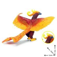 Simulação original chinês phoenix vermelho pavão figuras de ação pássaro pvc figuras realistas educação crianças brinquedo presente