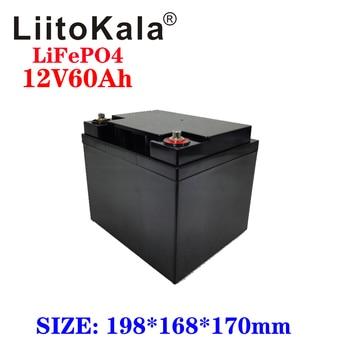 LiitoKala 12V 60Ah de ciclo profundo LiFePO4 Pack de batería recargable 12,8 V 60Ah los ciclos de vida de 4000 con-en protección BMS 1