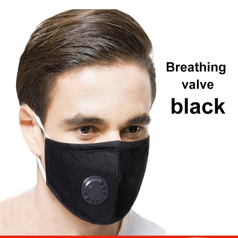 Reusable PM2.5 Respirator Dust Proof Respirator Mouth Mask Washable Masks Anti Virus Filter Prevent Virus Masks With Valve