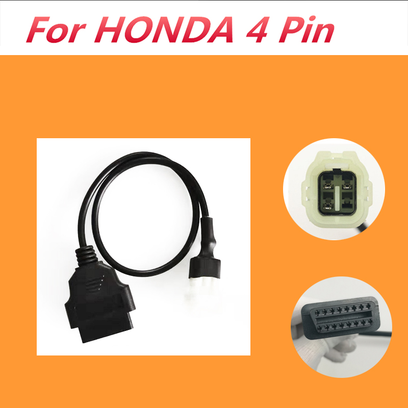 Motorcycle 4 Pin OBD2 Diagnostic Code Reader Adapter Scanner CABLE for HONDA