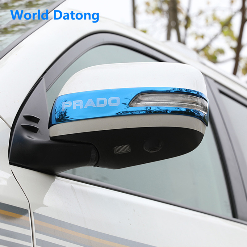 Rearview Mirror stainless steel Cover Trim Car Rear View Mirrors strip 2pcs for <font><b>Toyota</b></font> Land Cruiser Prado <font><b>150</b></font> 2010~2019 image
