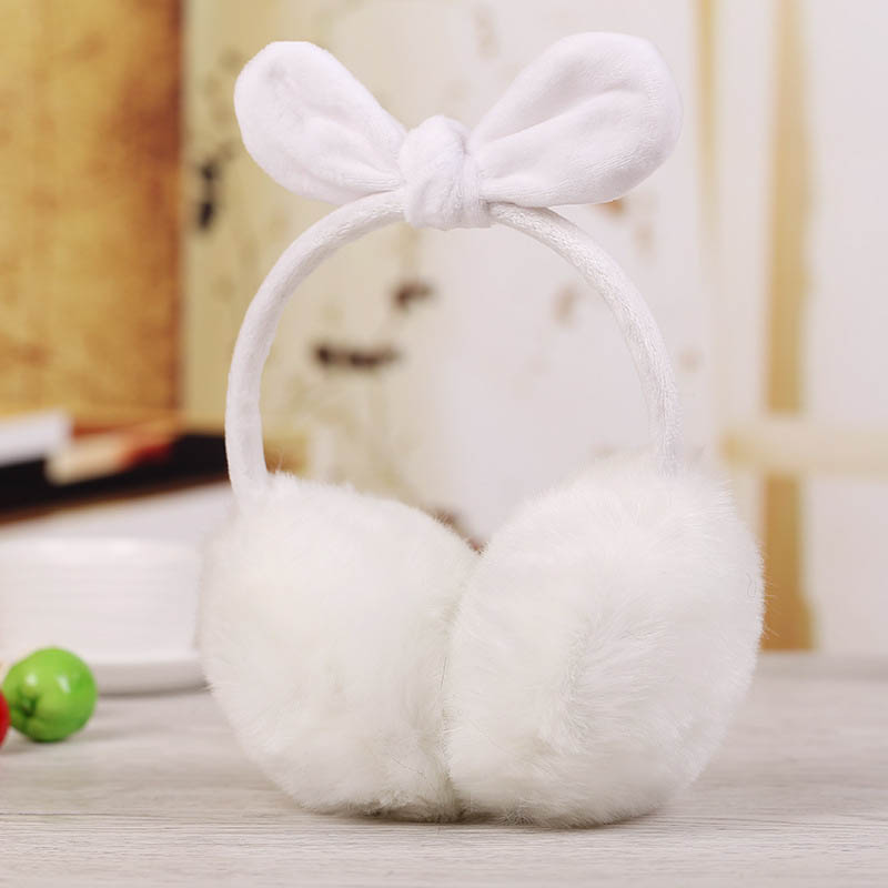 Newly Ladies Girls Earmuffs Cute Bowknot Furry Ear Muffs Comfy Soft Outdoor Winter FIF66