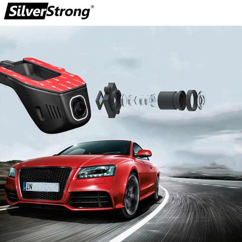 SilverStrong トップ車 DVR WIFI DVR 1080 1080p Novatek 96658 デュアルレンズ車のカメラのビデオレコーダー ios の android 携帯 /カー Dvd B202