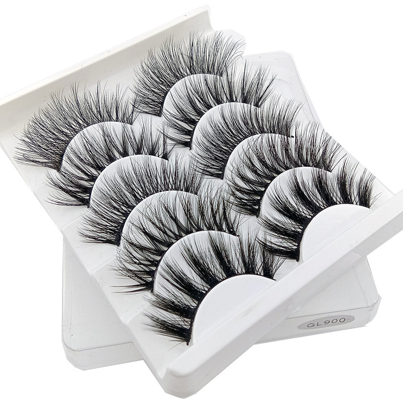 5 Pairs 3D Mink Eyelashes Natural False Eyelashes Lashes Soft Fake Eyelashes Extension Makeup Tools Wholesale