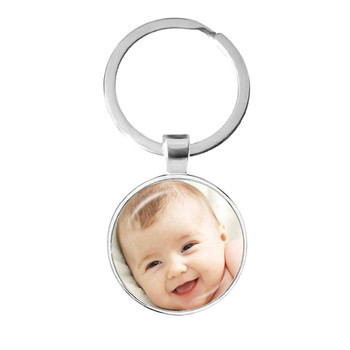 Personalized Custom Keychain Photo Mum Dad Baby Children Grandpa Parents Custom designed Photo Gift For Family Anniversary Gift dear mum and dad