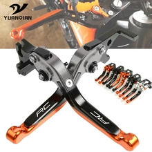 Motorcycle Accessories CNC Aluminum Adjustable Foldable Extendable Motorbike Brakes Clutch Levers FOR KTM RC 200 RC200 2014-2019 cnc aluminum motorbike motorcycle brake clutch levers foldable extendable for ktm rc8 rc8r rc 8 rc 8r rc 8 8r 2009 2016