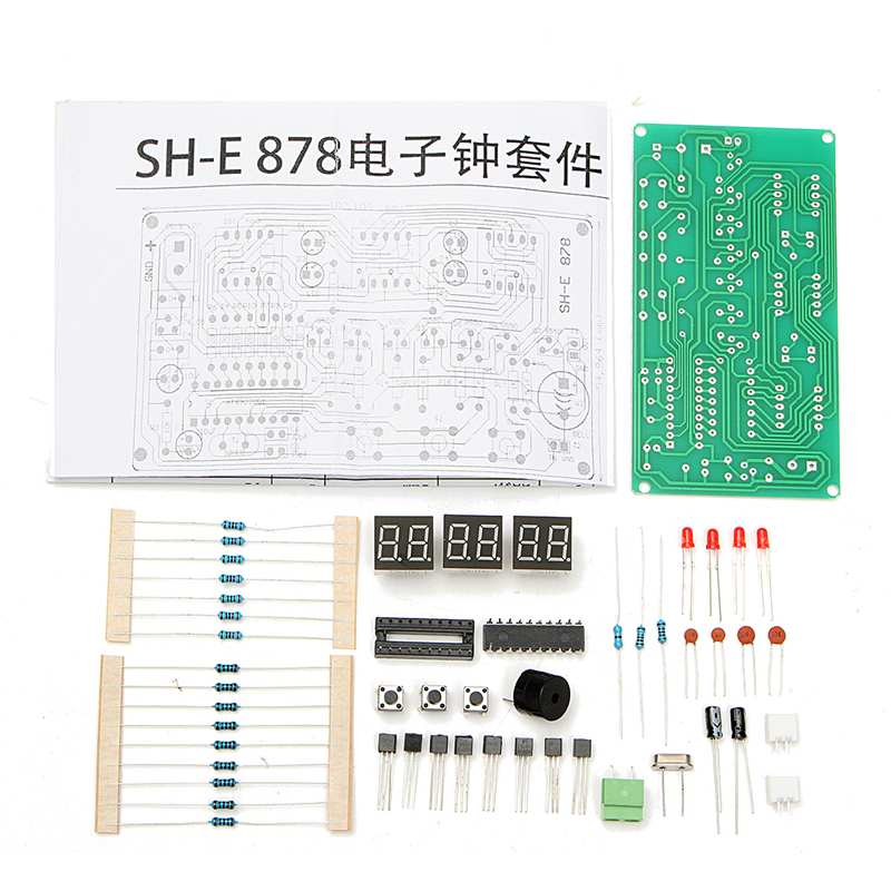 DIY Kit 5-12V AT89C2051 6 Digital LED Electronic Clock Parts Components  Led Modules Counter Stopwatch Countdown Accessory