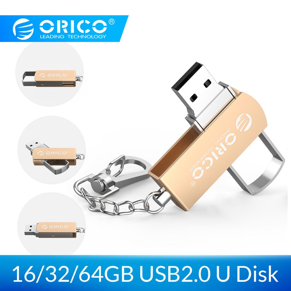 ORICO 64GB 32GB 16GB U disk USB Flash Drive USB2.0 Pendrive with Key Ring Support For Mobile Phone Computer image