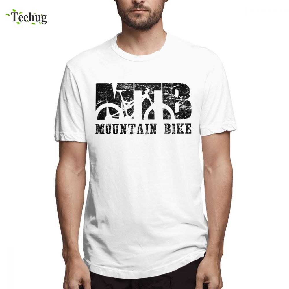 Vintage For Male Mountain Biking T SHIRT Vintage MTB Distressed Tee Leisure Streetwear Graphic For Male Tee shirt in T Shirts from Men 39 s Clothing