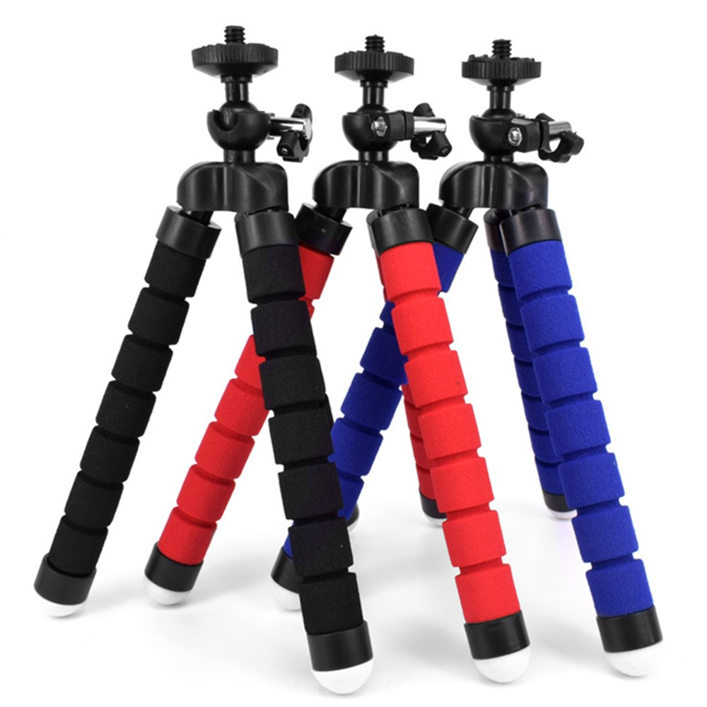 Mini Portable Flexible Sponge Octopus Tripod Stand Mount With Holder for GoPro Mobile Phone Smartphone Camera Tripod
