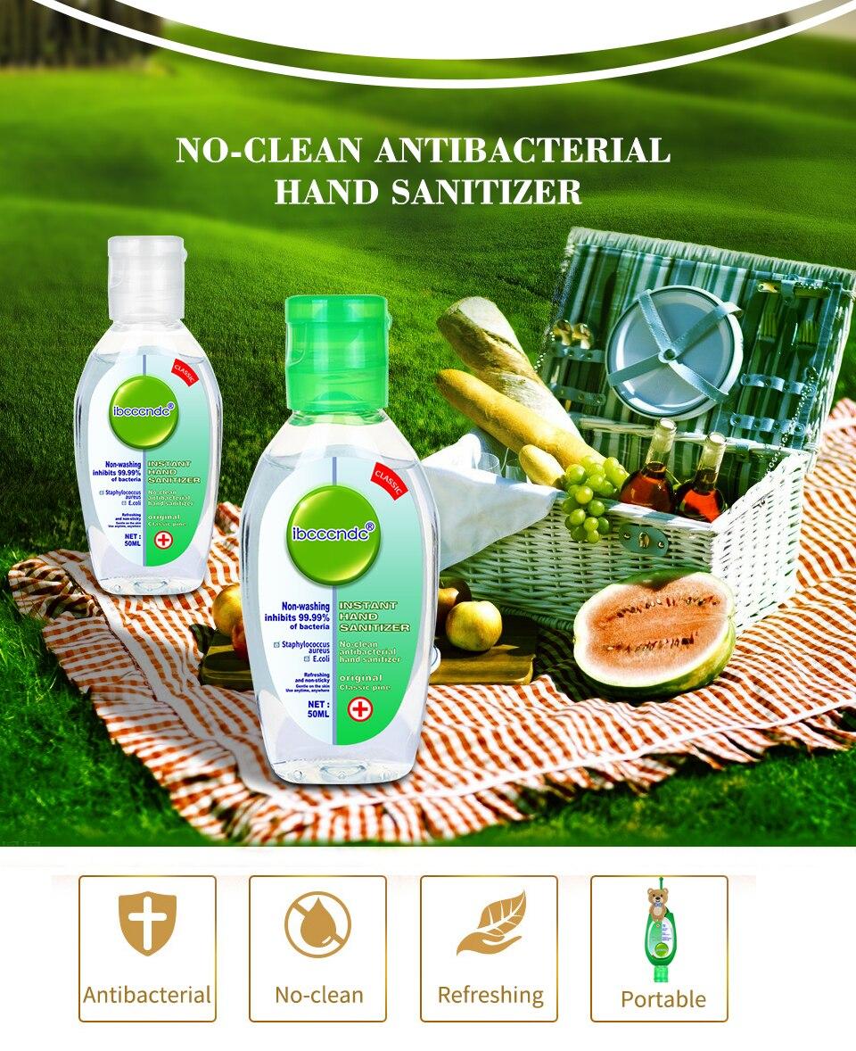 H5ba0cc8daba74317af786db95ac0c1959 50ml Travel Portable Hand Sanitizer Gel Anti-Bacteria Moisturizing Liquid Disposable No Clean Waterless Antibacterial Hand Gel