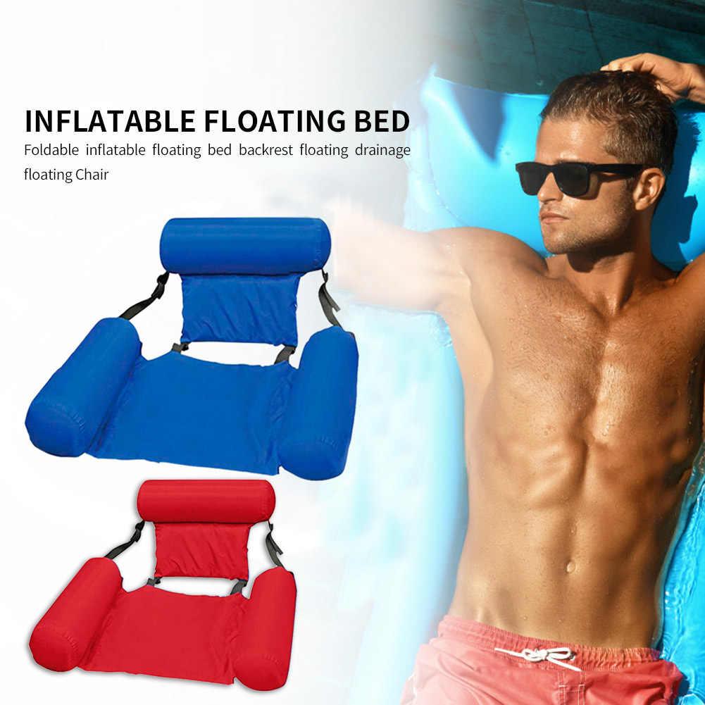 מתנפח שורה הצפה משענת אוויר מזרן מיטת קיץ בריכת מים ערסל מחצלת צעצועי חיצוני חוף שחייה אבזרים
