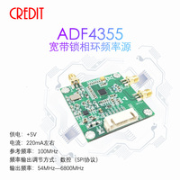 Fonte de frequência 54 m-6.8g ldo de baixo nível de ruído do módulo uwb pll adf4355