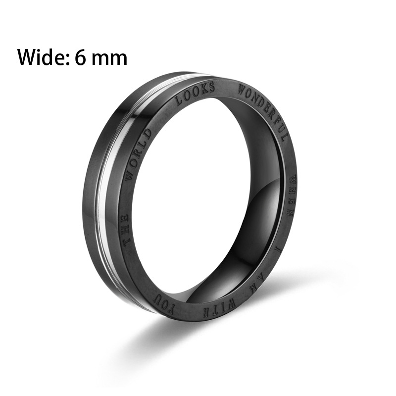 Alloy Silver Ring Jewelry Accessories Engagement Ring Rings for Lovers Stainless Steel Ring Simple and Stylish Couple Rings - 2