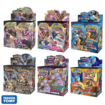 360Pcs/box Pokemon Cards TCG: Sun & Moon Series Booster Box Games Collectible Trading Card Game Kids Toys 1