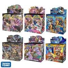 324 pçs/caixa pokemon cartões tcg: sun & moon série booster caixa jogos colecionáveis jogo de cartas de negociação crianças brinquedos