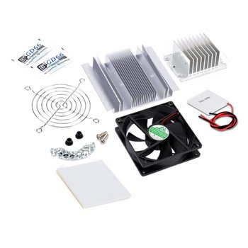 semiconductor cooling plate small air conditioning heat dissipation module portable 12v electronic cooler production kit diy 12V small electronic refrigerator Plastic+metal Cooling System Kit Cooler  for DIY TEC-12706 mini air conditioner 1 Set