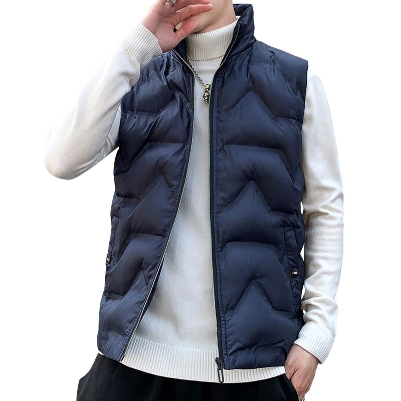 Fashion Mens Jacket Sleeveless Vest 2020 Spring Stylish Casual Coats Male Cotton-Padded Male Vest High Quality Waistcoat Men New