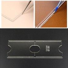 Gabarit porte-cartes en cuir acrylique, 1 pièce, pochoir, outil, bricolage, artisanat