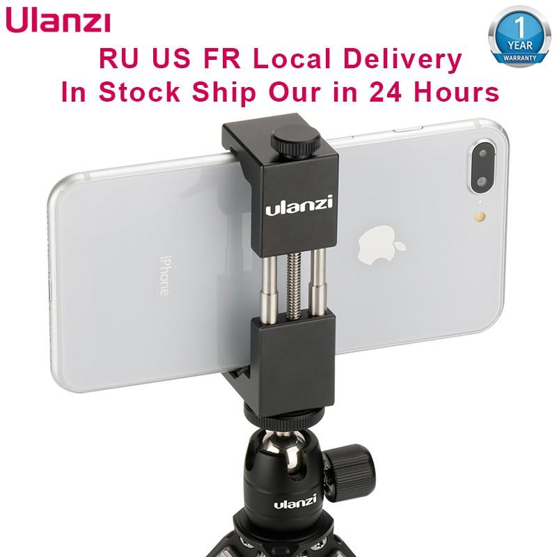 Ulanzi universal ST-2S vlog smartphone tripé de montagem alumínio metal telefone tripé adaptador suporte para iphone 11 pro max