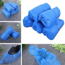reusable step in sock portable auto package overshoes waterproof shoe covers shoe boot cover automatic 1Pack/100 Pcs Disposable Shoe Covers Waterproof Boot Covers Plastic Overshoes Rain Shoe Covers
