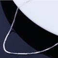 16 18 дюймов ожерелье покрытое серебром Платиновое Покрытие змеиная цепочка ожерелья для женщин одна цепочка модные простые ювелирные аксес...