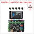 MKS GEN L V2.0 + MKS TFT35 LCD 3D accessori supporto della stampante a4988 DRV8825 tmc2100 tmc2208 tmc2130 TMC2209 stepper driver piastra