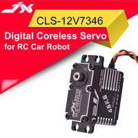 JX CLS-12V7346 46KG 12V 180 Grad HV Hohe Präzision Stahl Getriebe Digitale Kernlosen Servo CNC Aluminium Shell Für RC Roboter Auto