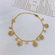 New Korean fashion versatile bracelet necklace copper Fritillaria compass Necklace women's elegant jewelry