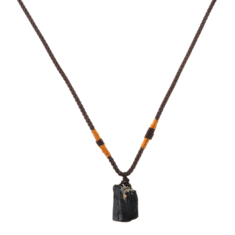 1PC Raw Natural Quartz Crystal Stone Accessories 25-30mm Mini Black Tourmaline Pendant Protection Gemstone Rock Home Decor