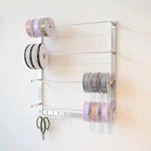 Supporto da parete organizzatore di nastri Display di stoccaggio bobina di filo cremagliera portachiavi varie ricamo supporto per filo da cucito bobina da tavolo