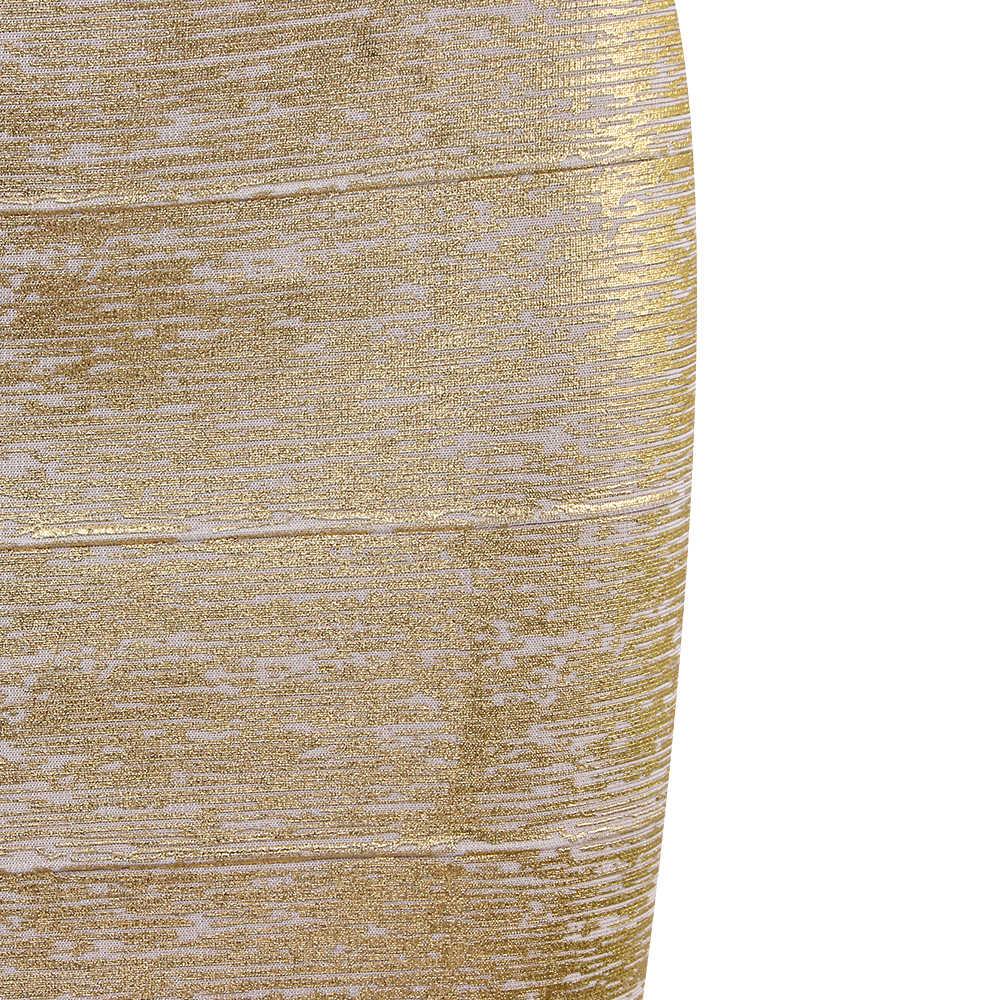 도매 여성 여름 패션 섹시한 골드 Bronzing 붕대 치마 2020 디자이너 나이트 클럽 bodycon 연필 스커트 Faldas 46cm