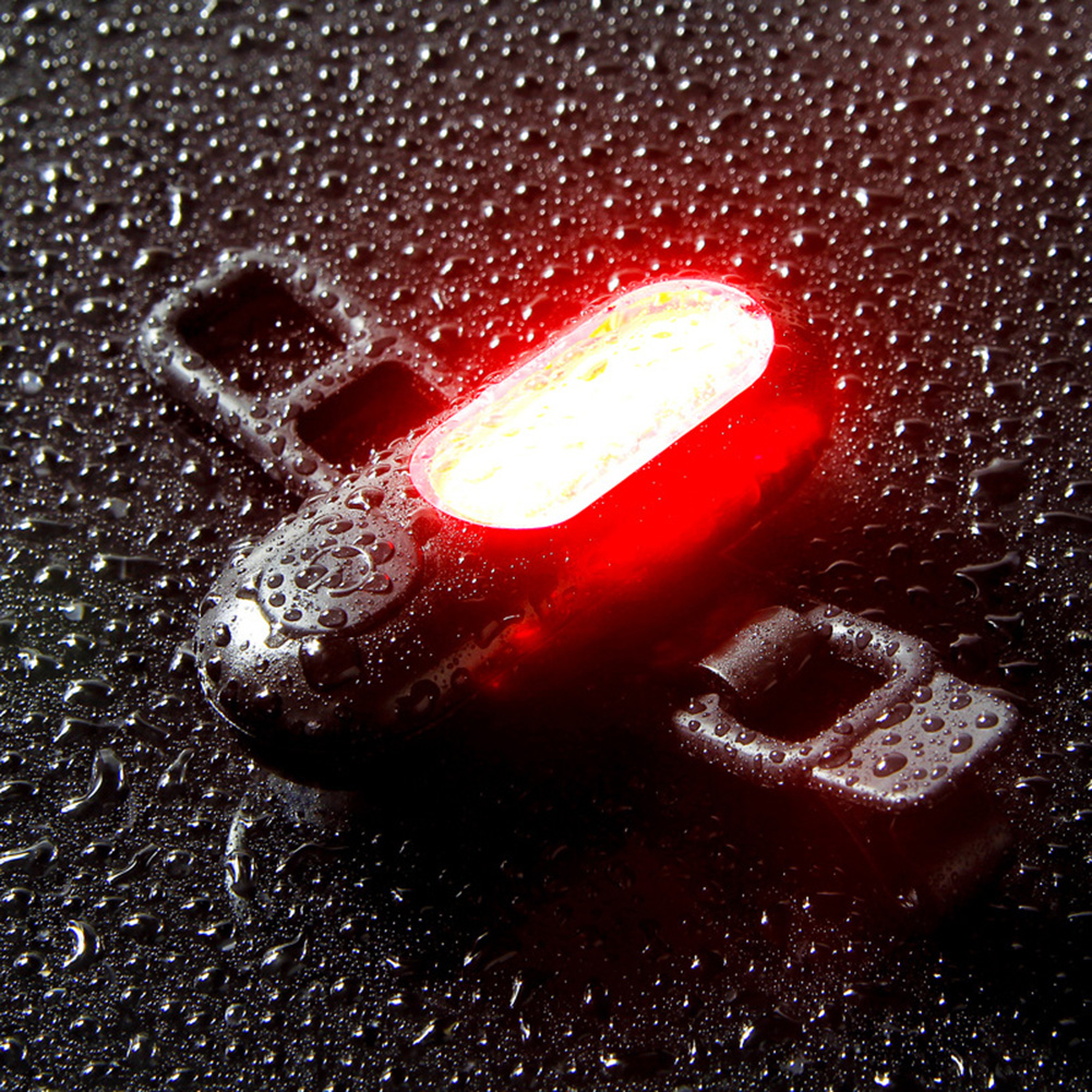 Smart Brake Tail COB Light USB Rechargeable Bicycle Night Light Riding Equipment Bike DIY Cycling Light