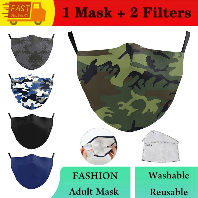 Модная маска моющаяся Классическая камуфляжная маска для взрослых многоразовая маска для рта Повседневная маска для лица