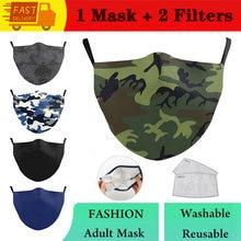 Máscara de moda lavável máscara de camuflagem clássica para adulto impressão máscara de boca reutilizável máscara de tecido casual mascarilla máscara facial