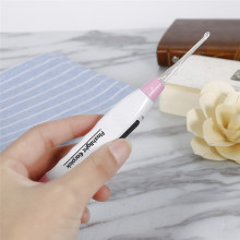 Модный очиститель для ушей светодиодный светильник ложка для удаления ушной серы чистый фонарик ручка для ушей подарок фонарик Пинцет для ушей бренд Детская безопасность