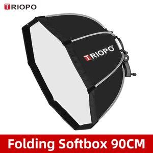 Image 1 - TRIOPO KS90 90cm Faltbare Octagon Softbox Halterung Montieren Weiche box Griff für Canon Nikon Godox Yongnuo Speedlite blitzlicht