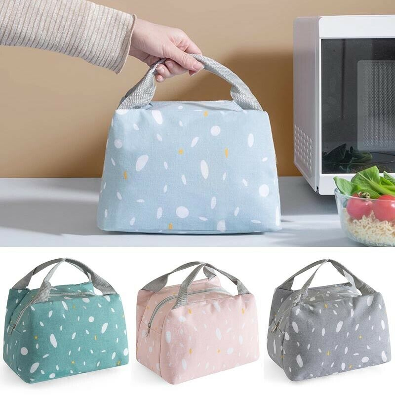 Newest Large Capacity Insulated Lunch Bag For Women Men Kids Thermal Cooler Lunch Box Portable Picnic Storage Food Bag 4Colors