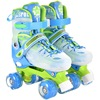 Children Double Line Roller Skates Causal Skating Shoes For Kids Adjustable Breathable Sneaker Flash Pu Wheel Patins Sport Shoes