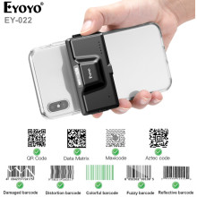 Eyoyo EY-022 2D Back Clip Bluetooth Barcode Scanner Phone Portable Barcode Reader Data Matrix 1D2D QR Scanner Android IOS System