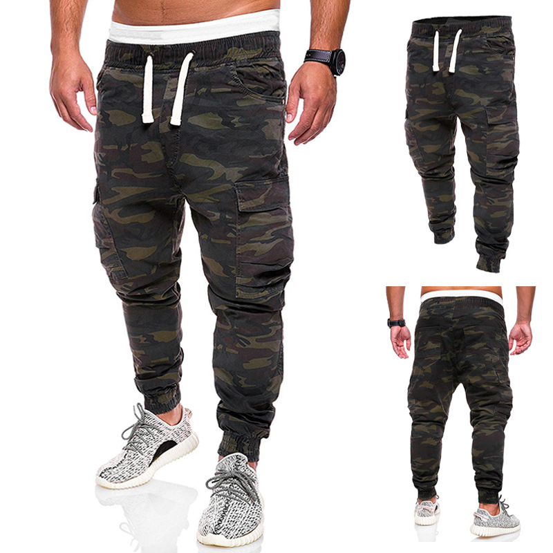 COLDKER Man Cargo Pants Fashion Male Camouflage Sweat Pants Streetwear Men's  Trousers Cargo Cloth