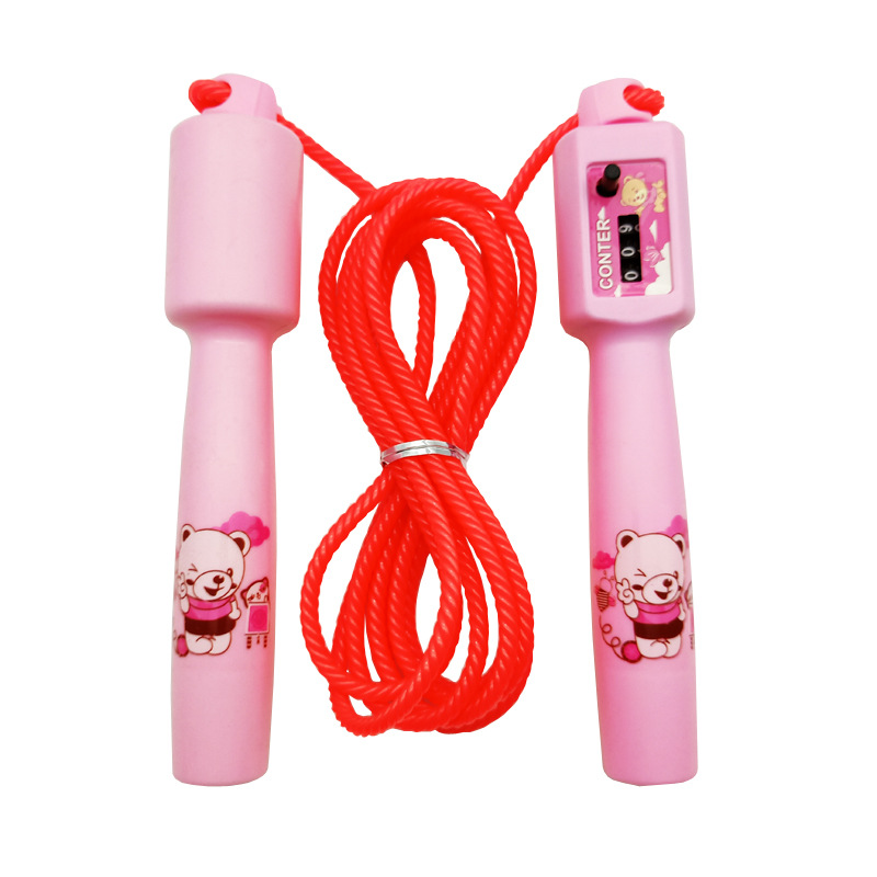 Liang Jian Manufacturers Direct Selling Sports Activity Jump Rope Cartoon Plastic Count Handle PVC Bag Children Sports Ma Take T