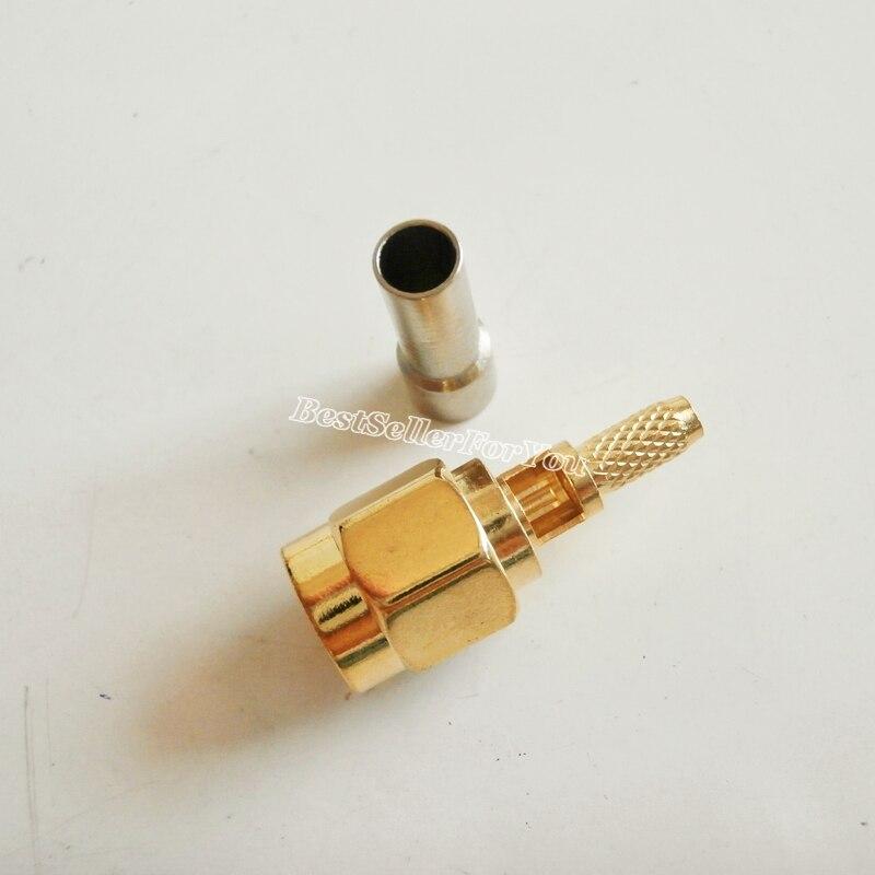 5 шт. коннектор SMA, штекер, обжим оконного кабеля RG174 RG316 LMR100, прямой соединитель кабеля