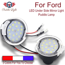 2x Super bright LED Under Side Mirror Puddle Light For Ford Edge Explorer Mondeo F-150 Mustang Fusion Flex Expedition Taurus E X цена 2017